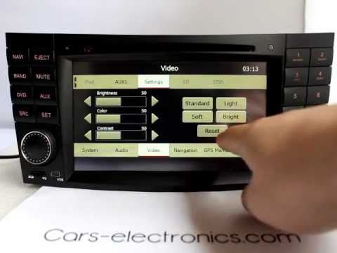 New Mercedes Benz E240, E280, E320, E350, E500, E550 Navigation DVD GPS Head unit Double din