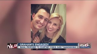 WATCH: Graham Rahal is engaged