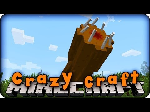 Minecraft Mods - CRAZY CRAFT - Ep # 9 'KILLING THE GIANT WORM!!' (Orespawn Mod)