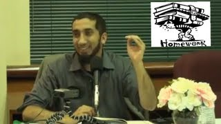 Do Your Homework! ┇FUNNY┇ Ustadh Nouman Ali Khan ┇Smile…itz Sunnah┇