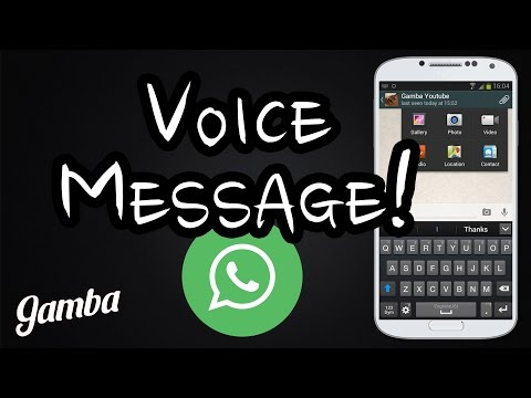 How to send a voice message on Whatsapp - Step by step