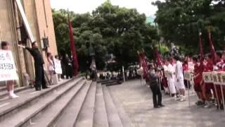 大隈講堂前 宣誓式2