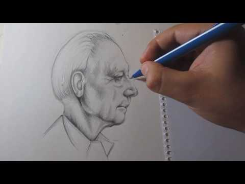 How to Draw a Profile Face with Pencil Step by Step - Realistic