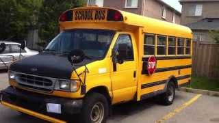 1998 Ford E-Series Super-Duty School Bus 7.3 Diesel Startup Engine & Walkaround
