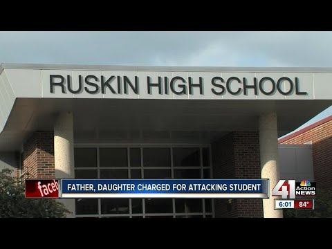 A father and daughter, Josiah and Jonay Wright, are accused of assaulting a student at Ruskin High School. The victim, Cullen Landis, was charged in June with assaulting Jonay.