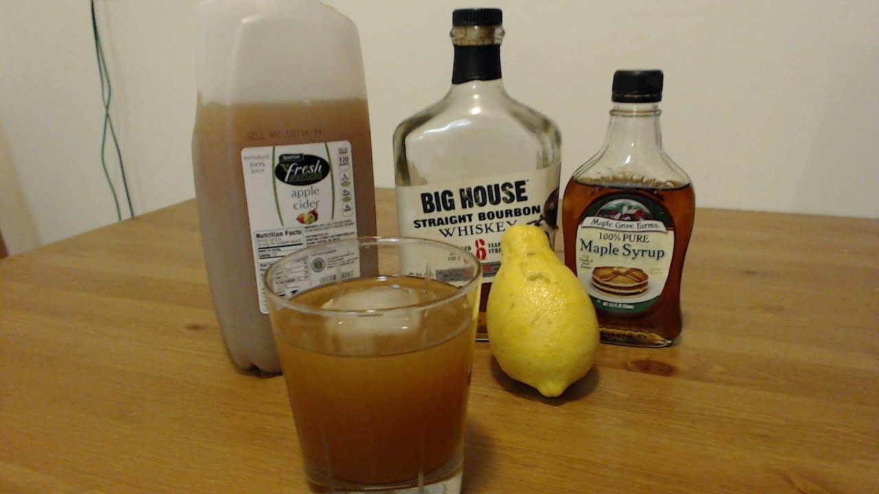 Maple Bourbon Cider Drink Recipe (Best Fall Drink?) - YouTube