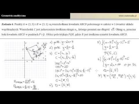 Geometria Analityczna - Zestawienie Najważniejszych Wiadomości