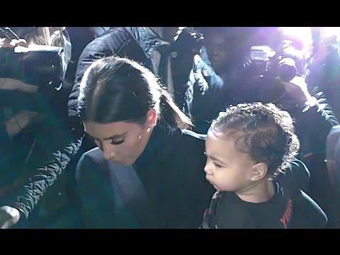 Kim KARDASHIAN Kanye WEST North @ Paris Fashion Week 24 september 2014
