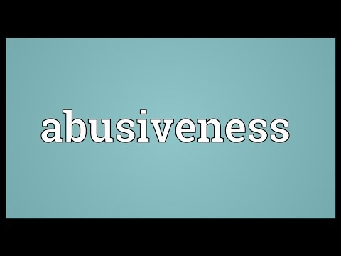 Header of abusiveness
