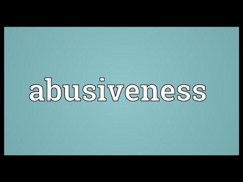 Header of Abusiveness