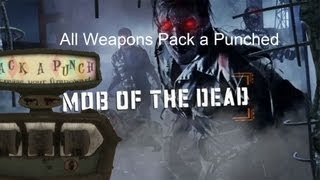 Black Ops 2 Zombies - All Weapons Pack A Punched (Mob of the Dead)