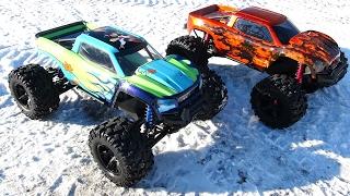 8s LiPO, GEN 2 - Traxxas XMAXX MTs - TEST DRiVE w/ CUSTOM Bodies - SNOW Bash! | RC ADVENTURES
