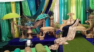 TROPICAL PEACOCK MEHNDI STAGE SETTING 2018