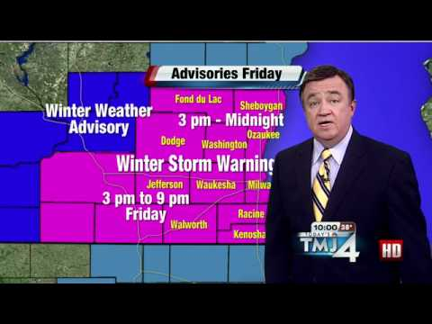 Wednesday forecast: Cloudy, 40s, with rain or wintry mix late