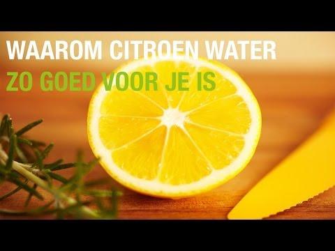 citroen in water afvallen