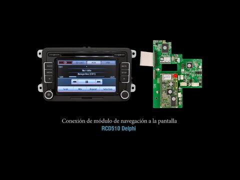Navegación GPS para Volkswagen. Conexión del módulo GPS a la pantalla RCD510 Delphi