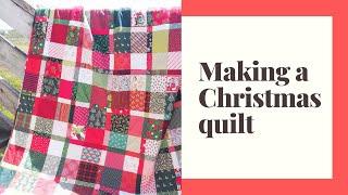 make a Christmas quilt (plaidish quilt pattern)