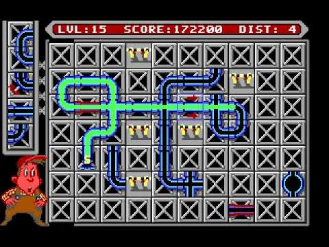 Pipe Mania Game Pipe Mania ms Dos Gameplay