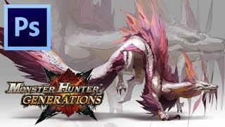 Mizutsune - Monster Hunter Generations | Photoshop Painting