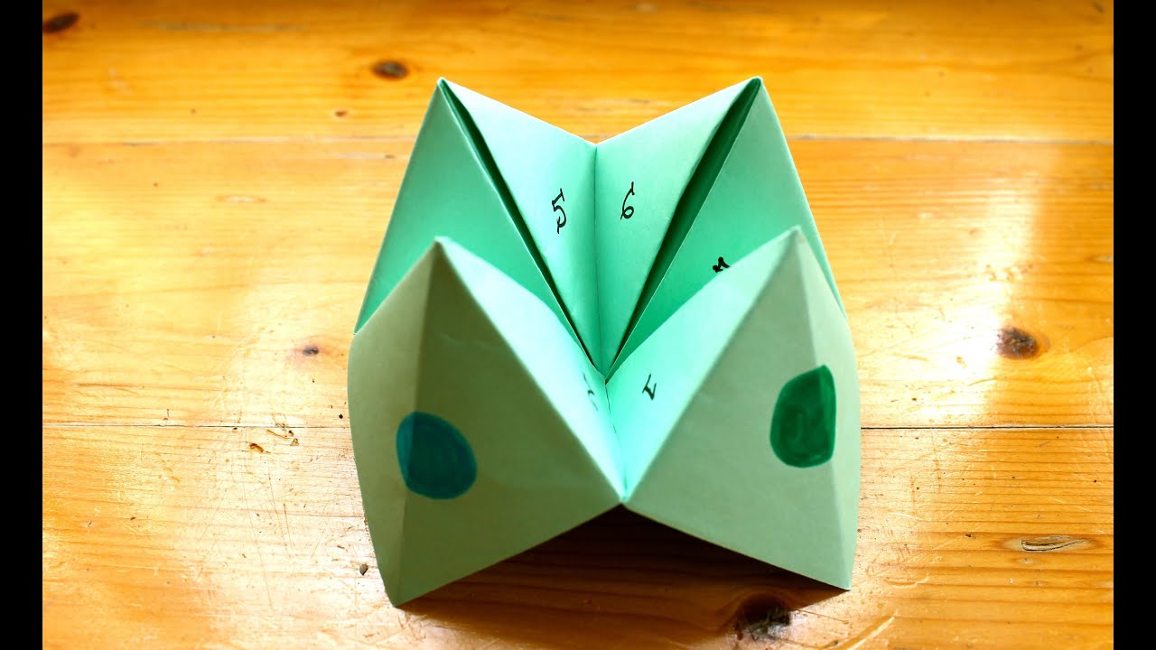 how to make a paper fortune teller or chatterbox youtube. Black Bedroom Furniture Sets. Home Design Ideas