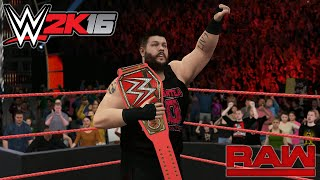 WWE 2K16 - TRIPLE H RETURNS AND ATTACK SETH ROLLINS/KEVIN OWENS NEW UNIVERSAL CHAMPION