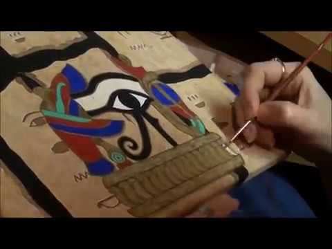 egyptian painting timelapse