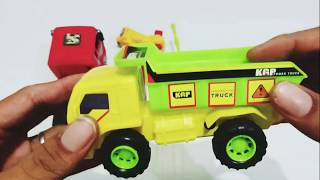 a box of toy trucks and rescue cars and colorful motorbikes #videoforkids