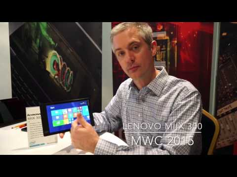 Lenovo MIIX 300 Tablet at MWC 2015