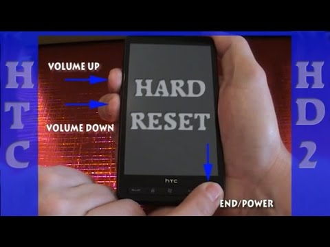 the procedure for doing a hard reset or factory reset of the HTC HD7