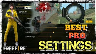 FREEFIRE BATTLEGROUNDS- LATEST BEST SETTING OF PRO PLAYERS!! NOW EASILY GET BOOYAHH!! 👍