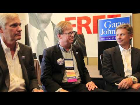 Steve Collett with Gov. Gary Johnson and Judge Gray on Marriage Equality