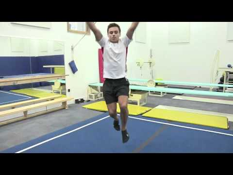Tom Daley showing off his diving skills