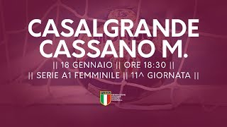 Serie A1F [11^]: Casalgrande - Cassano Magnago 27-26