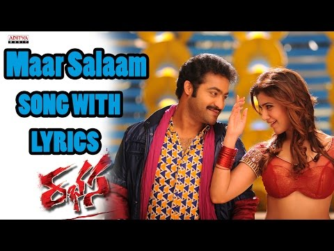 Rabasa Full Songs With Lyrics - Maar Salaam Song - Jr. NTR, Samantha, Pranitha