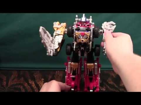 Gogo Sentai Boukenger Daibouken Review (Power Rangers Operation Overdrive Drivemax Megazord)
