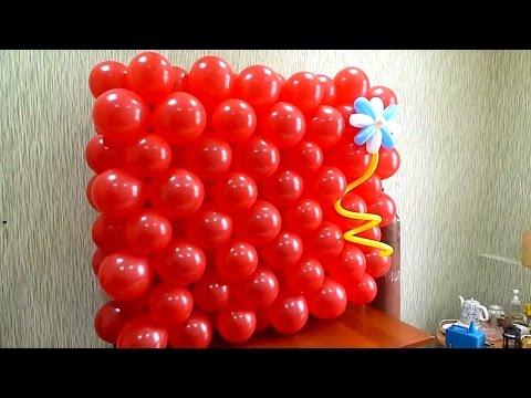 Буква в из воздушных шаров своими руками