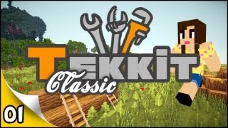 Minecraft Tekkit - EP 1 - A Creeper Welcoming!