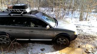 Audi AllRoad on full height suspension clears mud hole