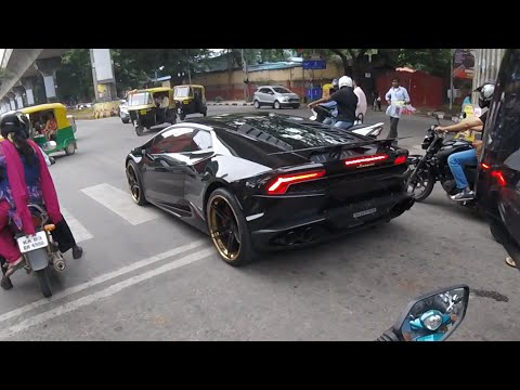 Lamborghini Huracan REACTIONS - INDIA (Bangalore)