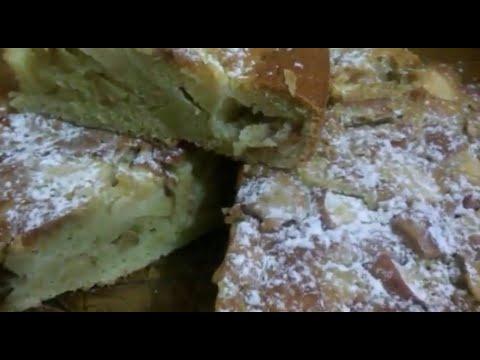 """Бабушкин"" яблочный пирог!!!( быстро и просто!!!)"