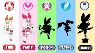 Scorbunny Poison, Fairy, Dark And Flying Type - Pokemon Type Swap.