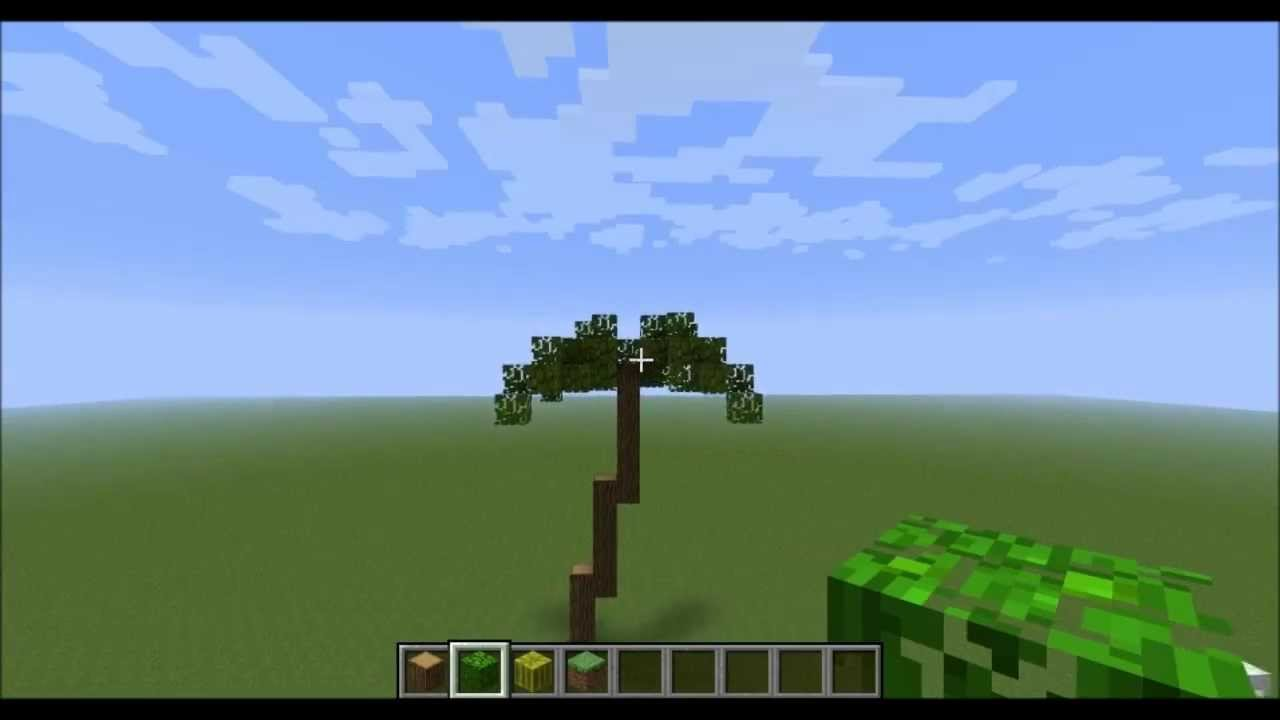 Minecraft How To Build A Palm Tree