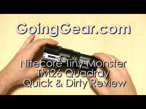 NItecore Tiny Monster TM26 Quadray 3500 Lumen Flashlight Quick Review