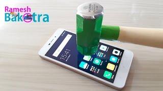 Redmi 4A Screen Scratch Proof Glass Test