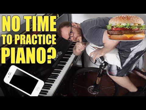No Time to Practice Piano? Vídeos de zueiras e brincadeiras: zuera, video clips, brincadeiras, pegadinhas, lançamentos, vídeos, sustos