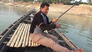15 KG+ Big Rohu Fish Hunting By Sumon From Padma River