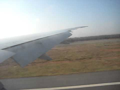 Emirates landing at Bangalore Internaltion Airport
