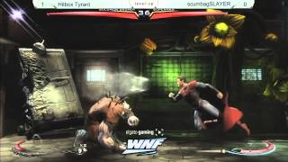 INJUSTICE Hitbox Tyrant vs littlebagSLAYER - WNF 2014 Season 1