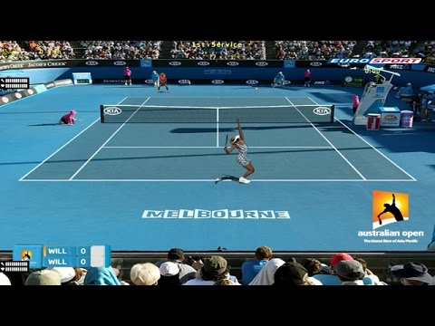 TENNIS ELBOW 2014 AUSTRALIAN OPEN - VENUS WILLIAMS VS SERENA WILLIAMS
