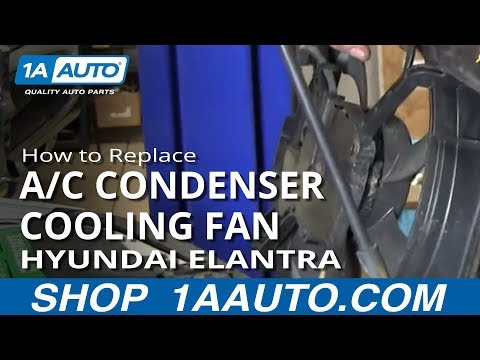 How To Install Replace LH Radiator AC Condenser Cooling Fan 2001-06 Hyundai Elantra
